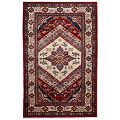 One-of-a-Kind Southwestern Wool Hand Knotted Area Rug, Carmine