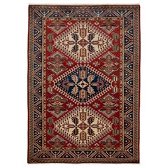 One-of-a-Kind Southwestern Wool Hand Knotted Area Rug, Cherry