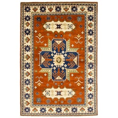One-of-a-Kind Southwestern Wool Hand Knotted Area Rug, Multi