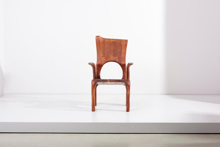 Mid-Century Modern One of a Kind Studio Charles B. Cobb Armchair, US, 1977 For Sale