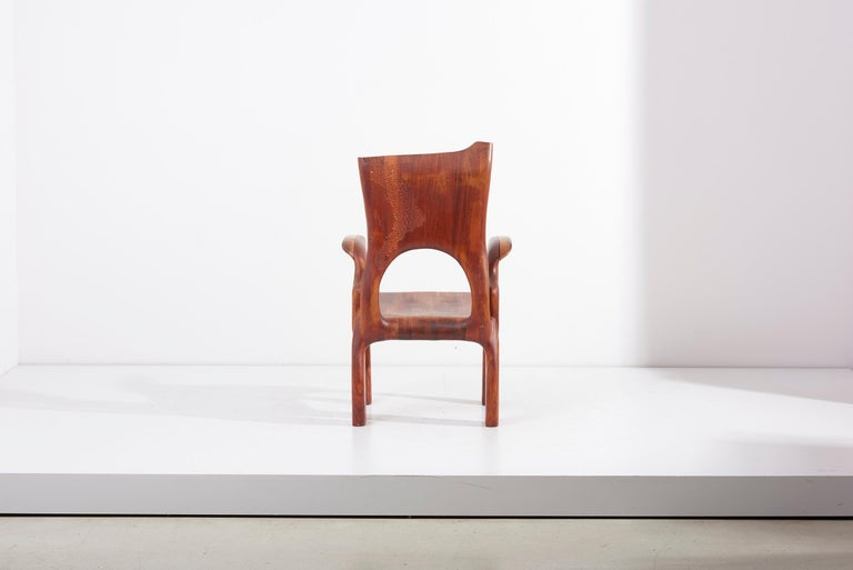 Late 20th Century One of a Kind Studio Charles B. Cobb Armchair, US, 1977 For Sale