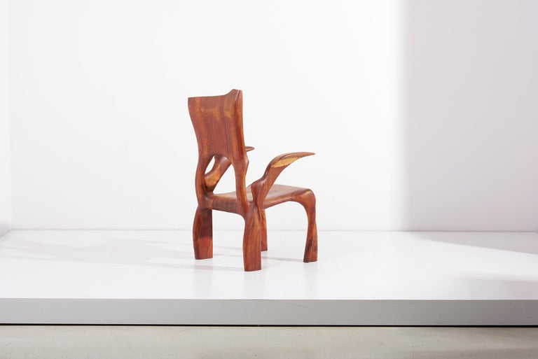 Walnut One of a Kind Studio Charles B. Cobb Armchair, US, 1977 For Sale