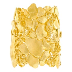 One-Of-A-Kind Swiss Modern Gold Cuff Bracelet