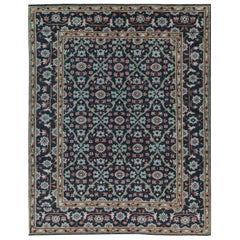 One-of-a-Kind Traditional Wool Area Rug  7'11 x 10