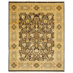 One-of-a-Kind Traditional Hand Knotted Area Rug, Cocoa