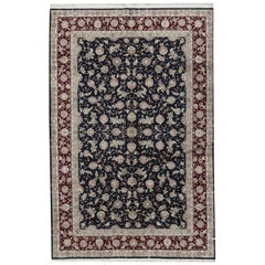 One of a Kind Traditional Handwoven Wool Area Rug 6' x 9'