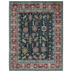One of a Kind Transitional Handwoven Wool Area Rug 5'8 x 8'1