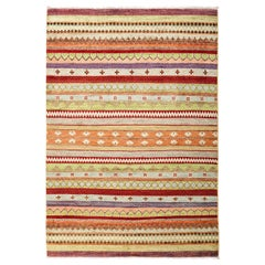 One-of-a-Kind Tribal Wool Hand Knotted Area Rug, Caramel