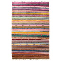 One of a Kind Tribal Wool Hand Knotted Area Rug, Fuschia