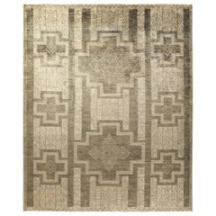 One of a Kind Tribal Wool Hand Knotted Area Rug, Oat