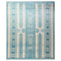 One of a Kind Tribal Wool Hand Knotted Area Rug, Parchment