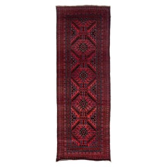 One of a Kind Tribal Wool Hand Knotted Runner Rug, Multi