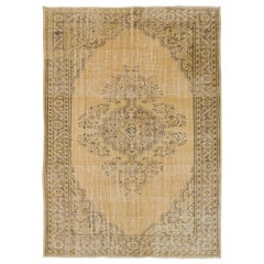 One of a Kind Vintage Oushak Area Rug. 7x11 Ft Ideal for Office & Home decor
