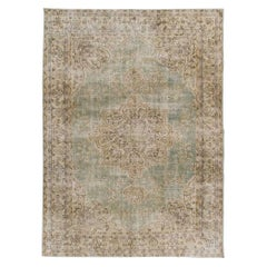 8x10.6 Ft One of a Kind Vintage Oushak Area Rug, Hand-Knotted Anatolian Carpet