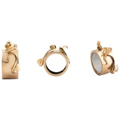 One of a Kind Yellow Rose Cut Diamond 18 Karat Yellow Gold Band Ring