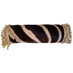 One of a Kind Zebra Pillow