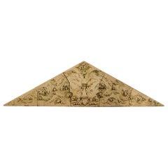 One 'of a pair' Triangular Terracotta Frieze from Philadelphia, circa 1870