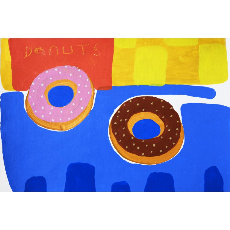 Modern 'One of Each' Painting by Alan Fears Acrylic on Paper Pop Art Still Life For Sale