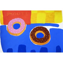 'One of Each' Painting by Alan Fears Acrylic on Paper Pop Art Still Life