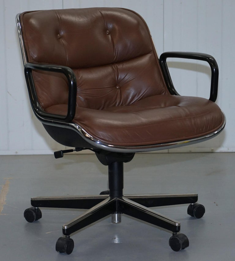 Wimbledon-Furniture is delighted to offer for auction one of eight original Knoll Pollock Executive office swivel chairs current retail is £4940 per chair.   Please note the delivery fee listed is just a guide, it covers within the M25 only, for an