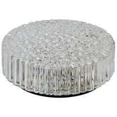 1 of 5 Limburg Vintage 1970s Textured Clear Ice Crystal Glass Flush Mount Lights