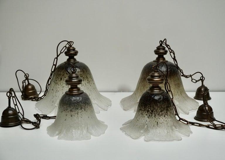 One of Six Italian Murano Glass Pendant Lights For Sale 7
