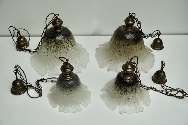 One of Six Italian Murano Glass Pendant Lights For Sale 9