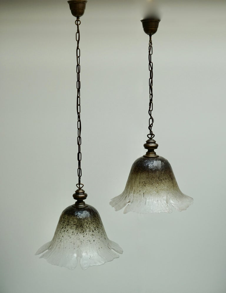 One of Six Italian Murano Glass Pendant Lights In Good Condition For Sale In Antwerp, BE