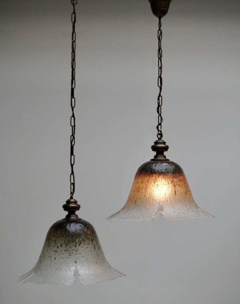 20th Century One of Six Italian Murano Glass Pendant Lights For Sale