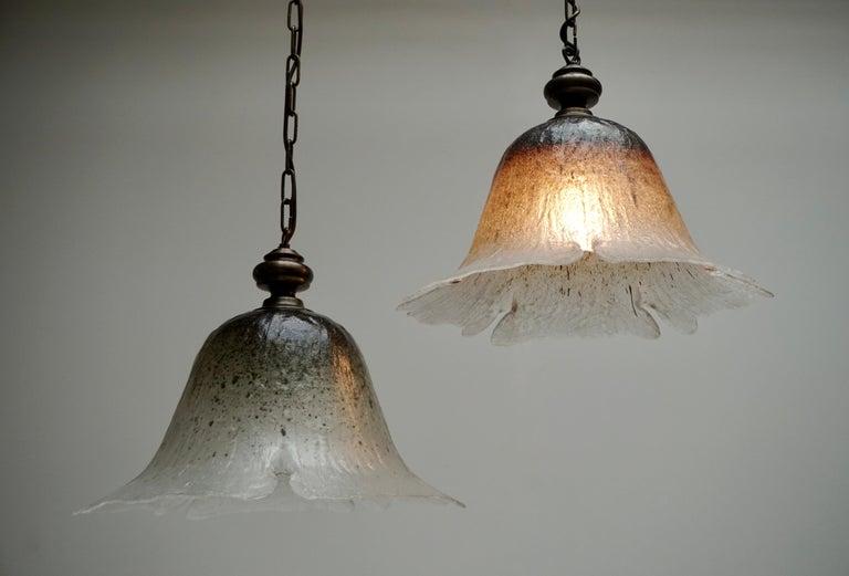 One of Six Italian Murano Glass Pendant Lights For Sale 1