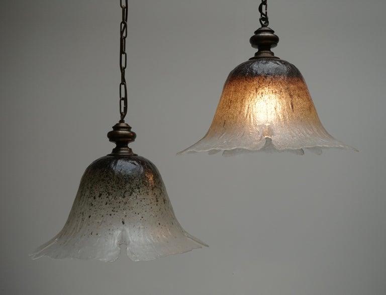 One of Six Italian Murano Glass Pendant Lights For Sale 2