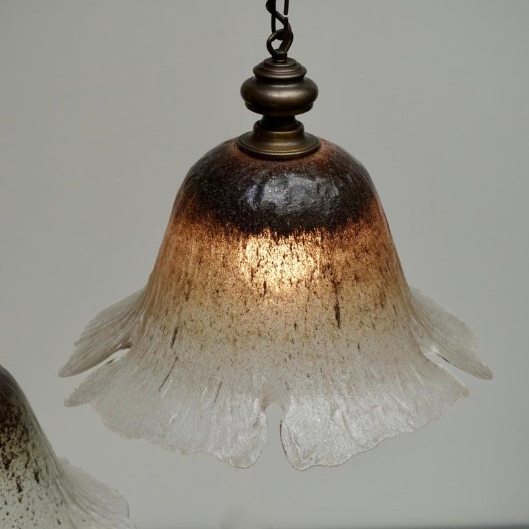 One of Six Italian Murano Glass Pendant Lights For Sale 3