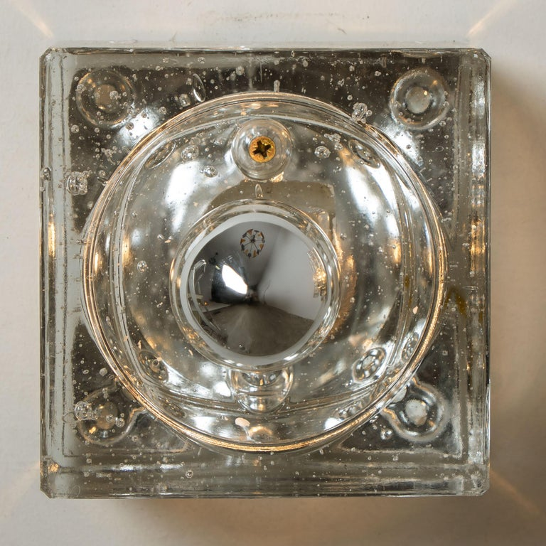 One of Seven Hand Blown Table, Wall or Ceiling Lights, Austria, 1960 For Sale 3