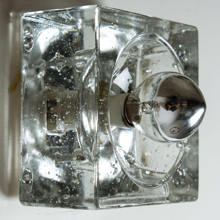 One of Seven Hand Blown Table, Wall or Ceiling Lights, Austria, 1960 For Sale 1