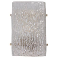 One of Six Ice Glass Sconces of Wall Lights by Kalmar