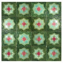 One of the 20 Glazed Relief Tiles, S.A. Produits Ceramiques De La Dyle, 1930