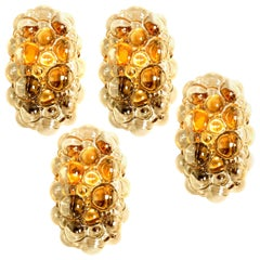One of the Eight Helena Tynell Amber Bubble Wall Sconces, 1960s