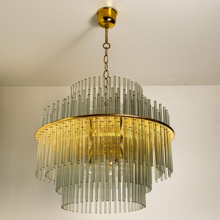 Mid-Century Modern One of the Six Modern Glass Rod Wall Sconces of Sciolari for Lightolier For Sale