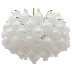 One of the Two Exceptional Large Kalmar 'Tulipan' Light Fixtures, 1960s