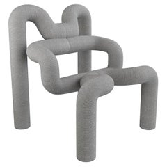 One of the Two Iconic Light Grey Armchairs by Terje Ekstrom, Norway, 1980s