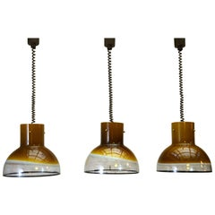One of Two Italian Murano Glass Pendant Lights