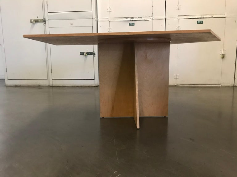 Asymmetrical Top Table with Four Stools by Di Vincente For Sale 5