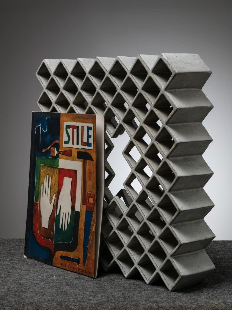 One Off Ceramic Sculpture by Alessio Tasca For Sale 1
