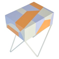 One Off Geometric Robot Side Table