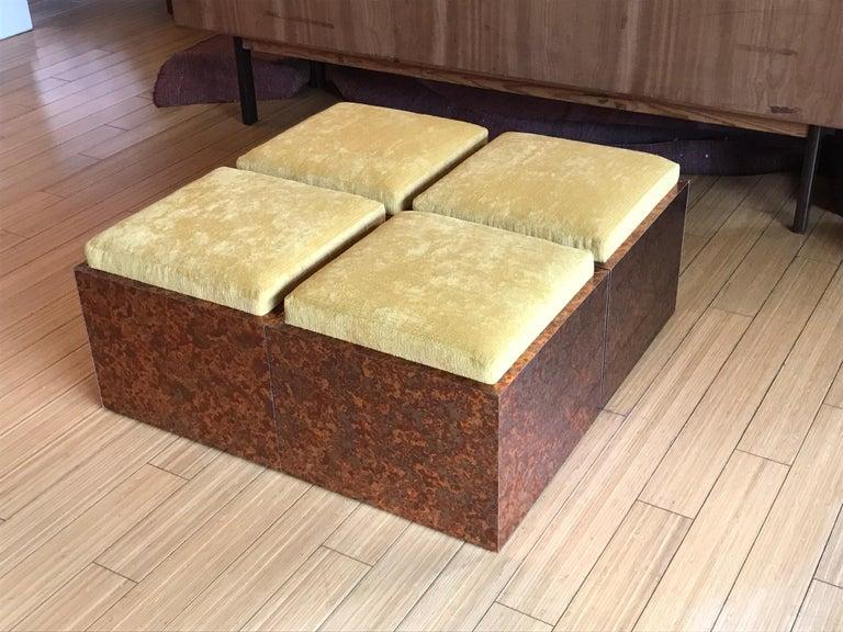 Architectural Cube Ottomans by Di Vincente For Sale 4