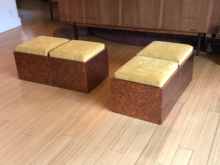 Architectural Cube Ottomans by Di Vincente For Sale 6