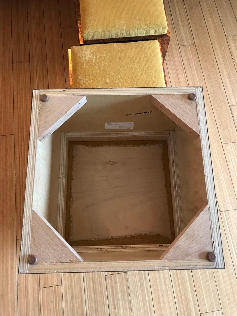 Architectural Cube Ottomans by Di Vincente For Sale 1