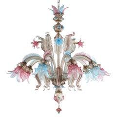 One off Venetian Luxury Chandelier Murano Handmade, Multi-Color by Multiforme