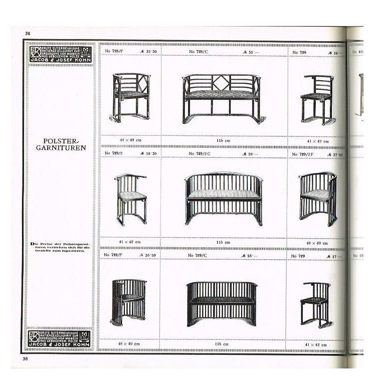 One or Six Armchairs Designed by Josef Hoffmann For Sale 6