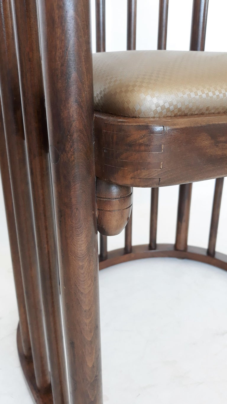 Vienna Secession One or Six Armchairs Designed by Josef Hoffmann For Sale